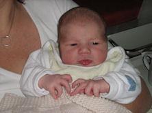 Karina im Alter von 2 Tagen